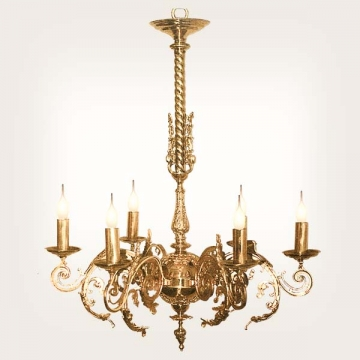 <b>ZD 13</b>Chandelier classic style, 6 candles w ~ 50 cm
