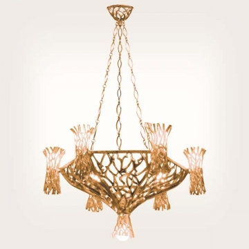 <b>ZD 19</b>Chandelier contemporary style – 15 candles w ~ 65 cm