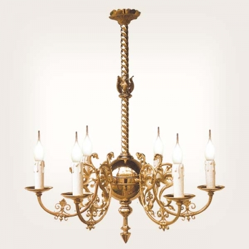<b>ZD 02</b>Chandelier Neogothic style – 6 candles, width ~ 60 cm