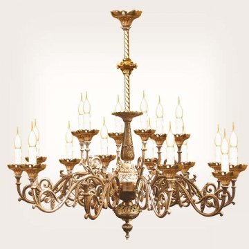 <b>ZD 21</b>Chandelier neo-gothic style, 15 candles w ~ 70 cm