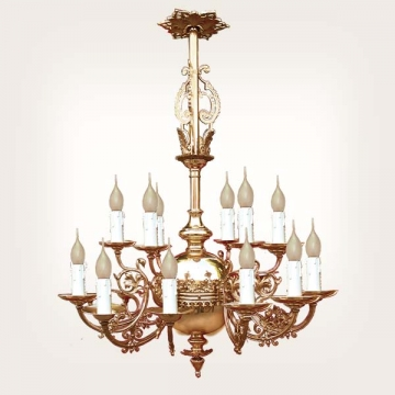 <b>ZD 29</b>Chandelier neo-gothic style, 12 candles, w ~ 60 cm