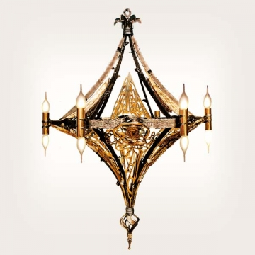<b>ZD 30</b>Chandelier contemporary style, 13 candles Szer. ok. 90 cm