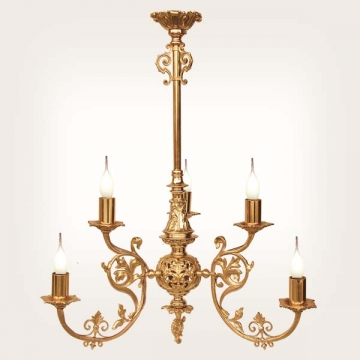 <b>ZD 31</b>Chandelier classic style, 6 candles width ~ 50 cm