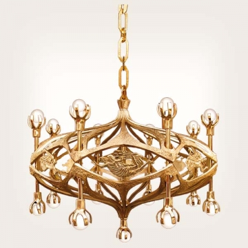 <b>ZD 33</b>Chandelier contemporary style, 13 candles w ~ 90 cm