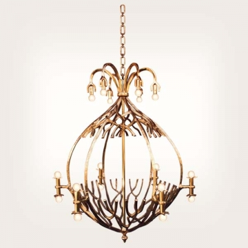 <b>ZD 34</b>Chandelier contemporary style, 18 candles w ~ 95 cm