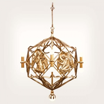 <b>ZD 35</b>Chandelier contemporary style, 13 candles, w ~60, 90 cm