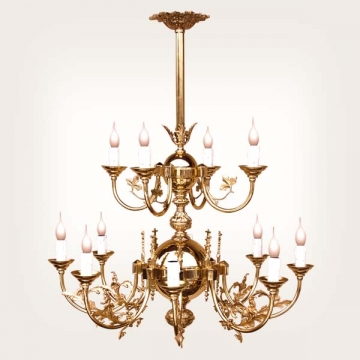 <b>ZD 36</b>Chandelier baroque style, 12 candles, w ~ 60 cm