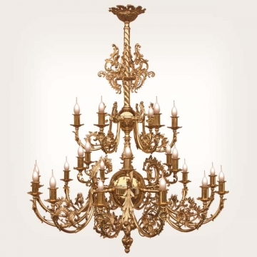 <b>ZD 37</b>Chandelier baroque style, 12-24 candles, w ~95 cm