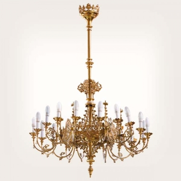 <b>ZD 40</b>Chandelier neo-gothic style, 18-24 candles w ~100 cm