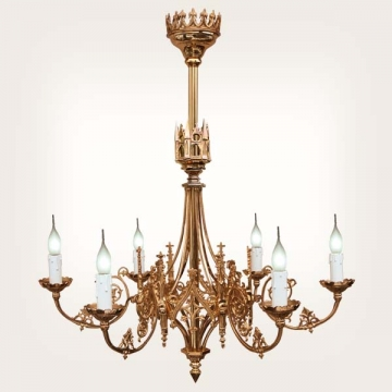 <b>ZD 41</b>Chandelier neo-gothic style, 6 candles w ~ 60 cm