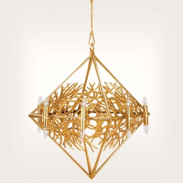 "<b>ZD 49</b>Chandelier contemporary style ""Pyramid"""" – 16 candles, w ~90 cm"
