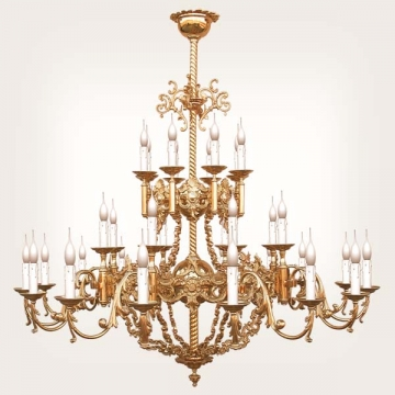 <b>ZD 05</b>Chandelier Baroque style, 24 candles, width ~ 135 cm